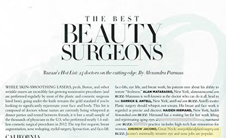 Best Plastic Surgeon in America by Harper's Bazaar Dr Jacono | NYC