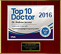 Dr. Jacono - 2016 Patient's Choice Award - NYC